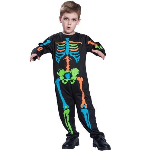 Disfraz de mono esquelético colorido Halloween bebé unisex