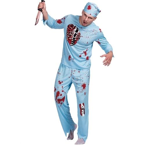 Adulto macho Halloween Walking Dead Doctor Costume