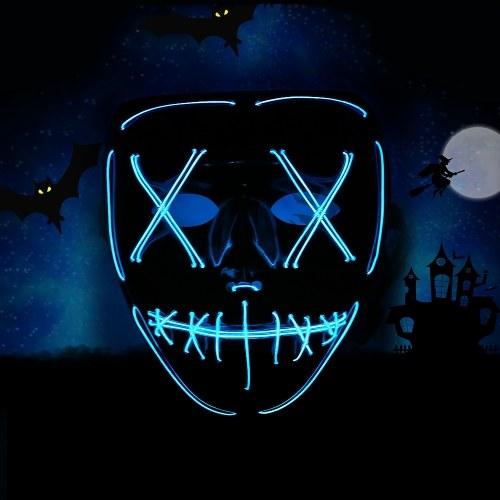 Adults Halloween Green LED Light Up Maska Halloween Kostium