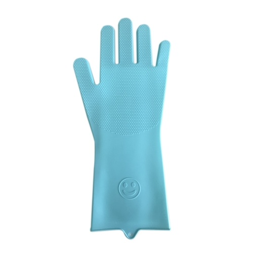1 Pair Magic Silicone Rubber Dishwashing Gloves