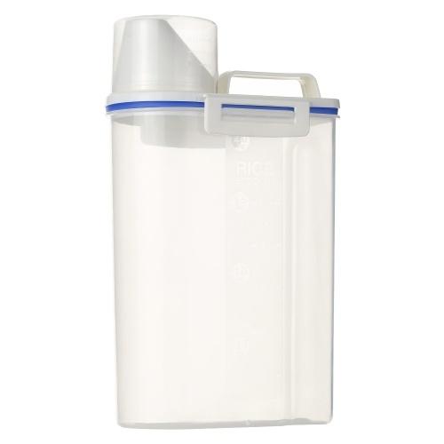 Портативный пластиковый контейнер для хранения риса 1,5 л