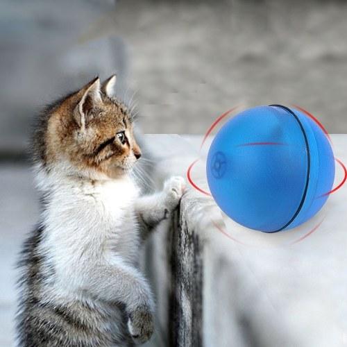 猫玩具ローリングボールLEDレッドライトモーション活性化ボール