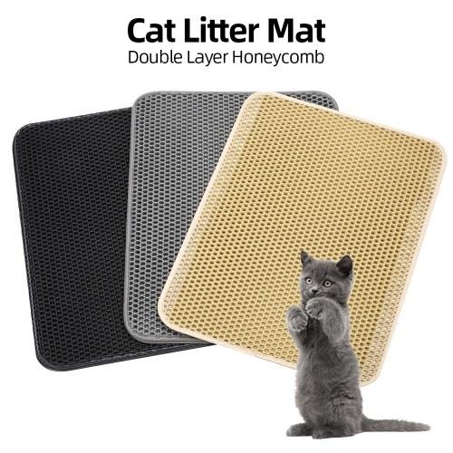Tappetino per gatti Tappetino per gatti Tappetino per trappola Design a nido d'ape a doppio strato per contenitore di lettiera per gatti L