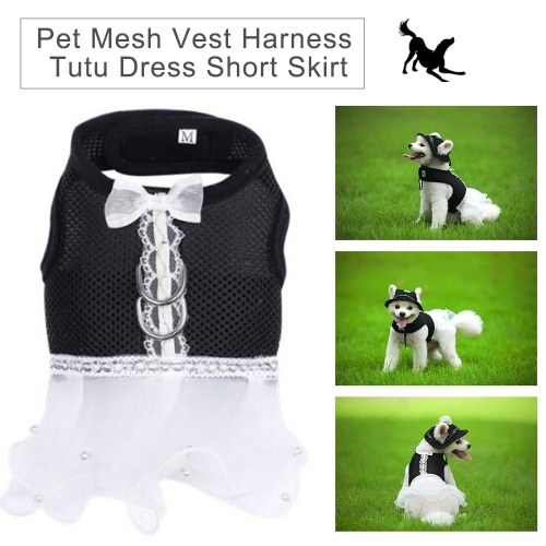 Perro gato mascota chaleco de malla arnés vestido falda corta vestido de tutú para perros gatos cachorro gatito