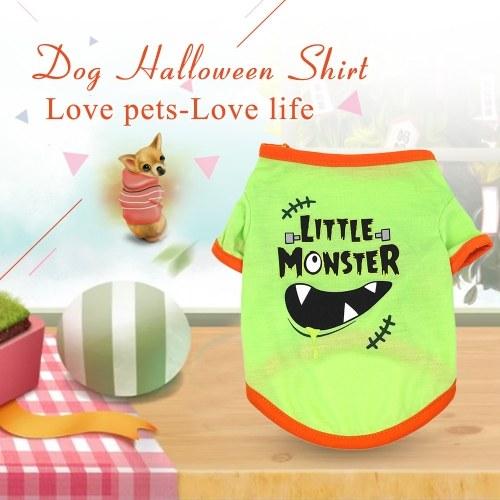 Dog Halloween Shirt Pet T Shirt Dog Little Devil Pet Clothes Pet Halloween Clothes Halloween Costume Dog Shirts