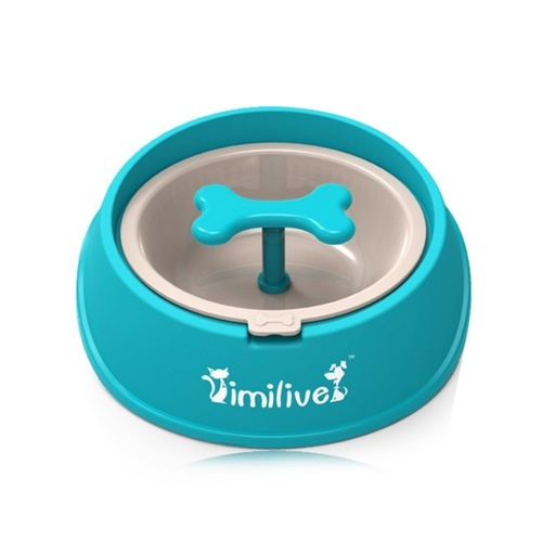 Pet Dog Feeder Slow Food Bowl pour animaux de compagnie Anti-Choking Bowl Feeding Dog for Dogs Cats Pets