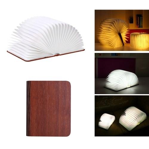 tomtop.com lampada a libro pieghevole lampada da tavolo portatile con luce notturna libro lanterna di carta a led luce da libro ricaricabile usb
