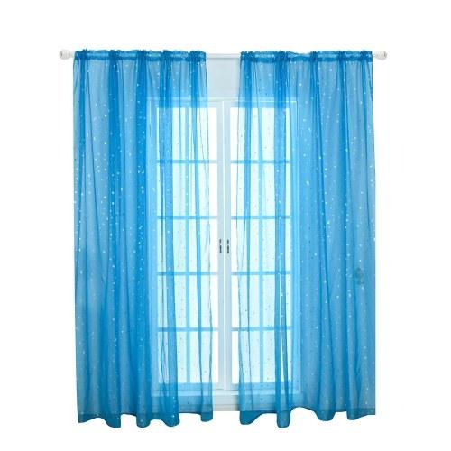 Прозрачные шторы маленькая звезда принт шторы