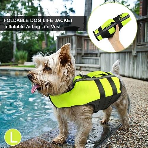 Plegable para perros Chaleco salvavidas Inflable Airbag Mascotas Chaleco de seguridad para perros Traje de baño Traje de baño para perros Perrito