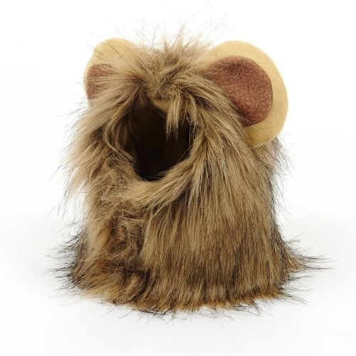 Cat Lion Mane Pet Lion Costume Pet Lion Hair Wig for Dogs Cats Pets Halloween Christmas Party Gift