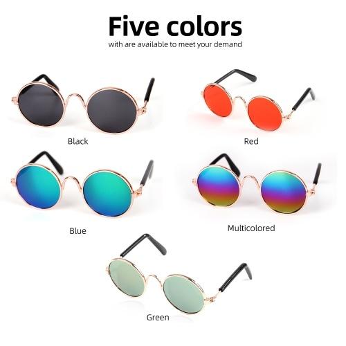 Haustier-Katzen-Glas-klassische Retro kreisförmige stilvolle Hundebrillen-Sonnenbrille