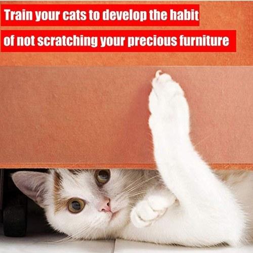 Лента Cat против царапин, защитная лента Cat Scratch, двусторонняя прозрачная лента для кошек фото
