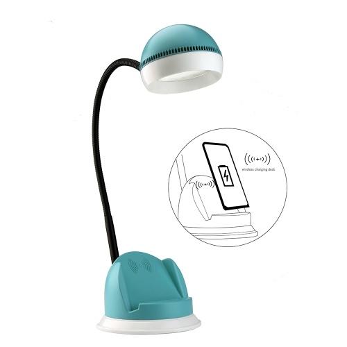 Lámpara de escritorio con cargador inalámbrico Puerto de carga USB