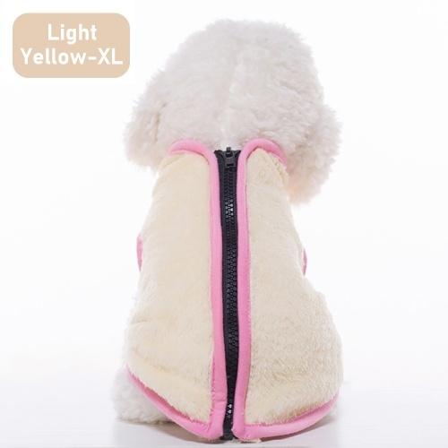 Warm Fleece Dog Pet Vest Jacket Winter Dog High Collar Zipper Clothing for Small Medium Large Dogs