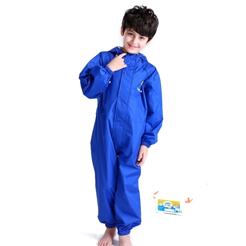 Kids Raincoat Breathable Rainwear Waterproof Raincoat For Children Boys Girls Students Rainsuit Hooded High Visibility Reflective Raincoat