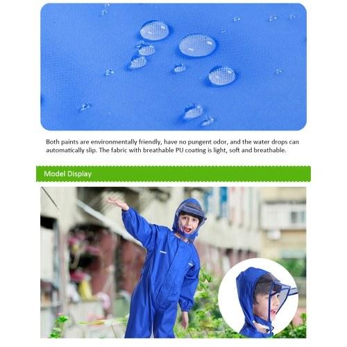 Плащ дети дышащий дождевик водонепроницаемый плащ для детей мальчики девочки студенты дождевик с капюшоном высокой видимости светоотражающий плащ фото