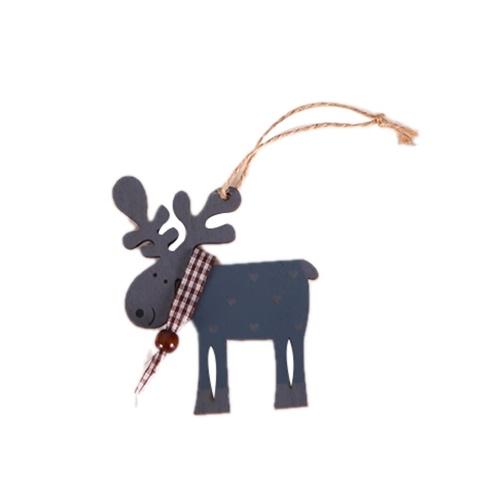新しいクリスマスオーナメント木製エルクペンダントクリスマスツリータグ