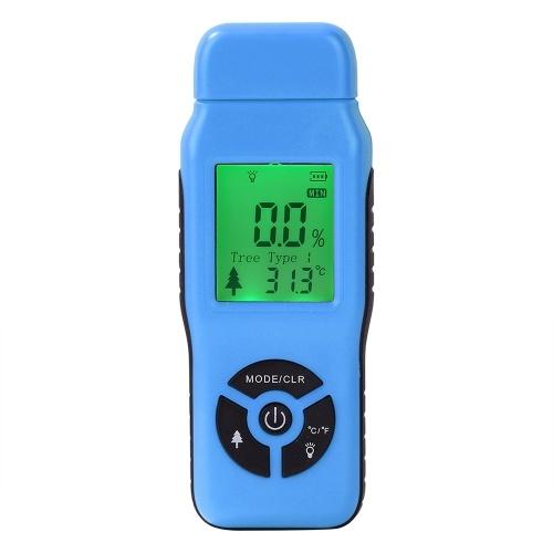 Analisador de umidade de madeira digital com agulha dupla Medidor de umidade Medidor Faixa 2% -70%