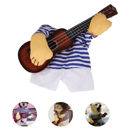 Pet Guitar Costume Dog Guitarist Player Pet Halloween Costume Pet Dog Cosplay Clothes Decoration Halloween Dress Up Accessories for Dogs Puppy