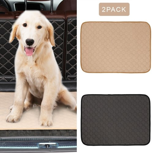 2PCS Dog Pee Pads Pet Training Mat Dog Diapers Puppy Pads Waterproof Absorbent Washable Reusable Pads for Dogs Cats Rabbit