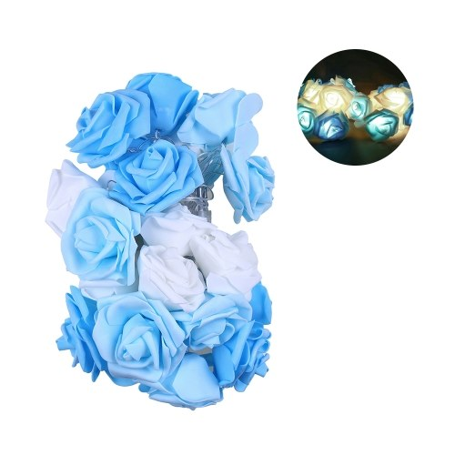 Rosen-Blumen-Girlande führte Feiertags-Schnur-Licht-Valentinsgruß-Geburtstags-Hochzeitsfest-Dekoration wirtschaftliche helle feenhafte Lampen-Schnur