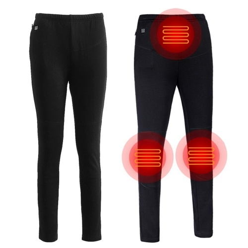USB Heated Pants Women Rechargeable Slim thickening Heated Baselayer Pants