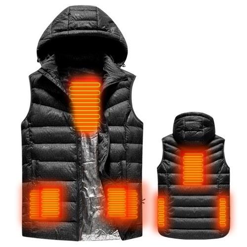 USB beheizte warme Sicherheit intelligente Herbst und Winter Weste mit Hut Männer Motorrad Outdoor Ski Jacke