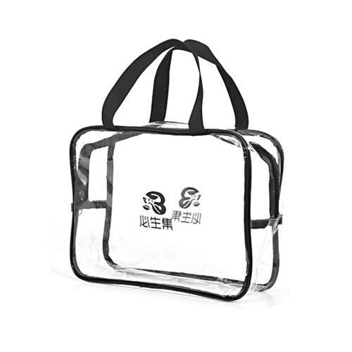 Transparente Portátil PVC Travel Bag Limpar Cosméticos À Prova D 'Água Lavagem de Maquiagem Armazenamento Com Zíper Saco Pounch