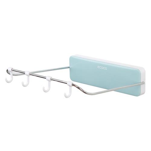 Ecoco Складная вешалка для умывальника Ванная комната Сильный подвесной умывальник Без гвоздей Настенная вешалка для умывальника фото