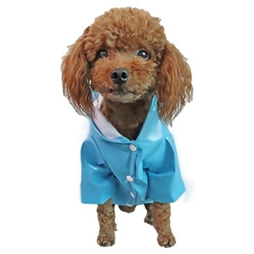 Poncho imperméable pour chien avec capuche à bande réfléchissante