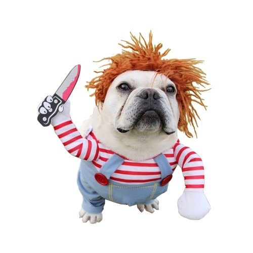 Deadly Doll Ropa para perros Disfraz de perro Disfraces de Halloween