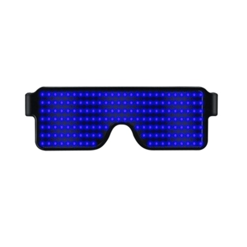 NEW 11 Modes Display Quick Flash Led Party Glasses USB Charging Luminous Glasses Christmas Grand Event Party Decorations Toy