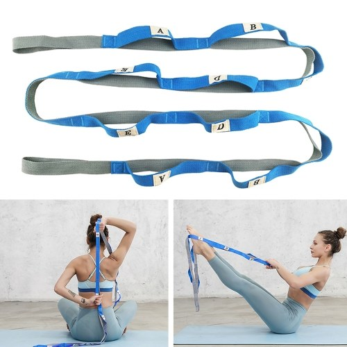 Gradient Fitness Stretching Strap Elastic Stretching Strap Yoga Belt for Home Gym Travels Yoga Pilates Dance