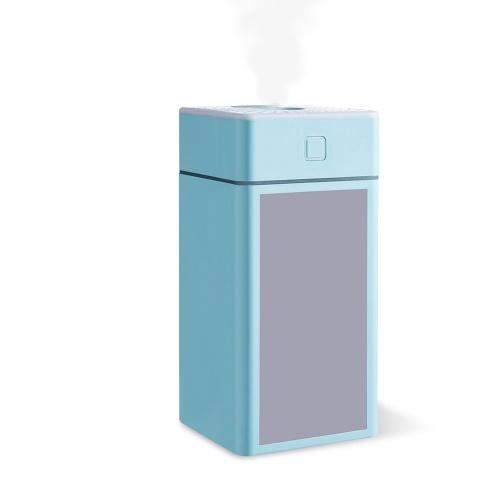 300 ml Nebel Luftbefeuchter Diffusor mit Lüfterspiegel Nachtlicht Leiser Auto Luftbefeuchter Diffusor mit ätherischem Öl Top Fill LED Luftbefeuchter für Schlafzimmer USB Powered Home Luftbefeuchter