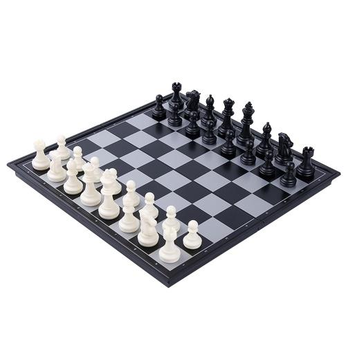 Internationales Schachspiel Magnetisches Schachspiel-Brettset mit zusammenklappbarem Schachbrett Tragbares Reise-Lernbrettspiel