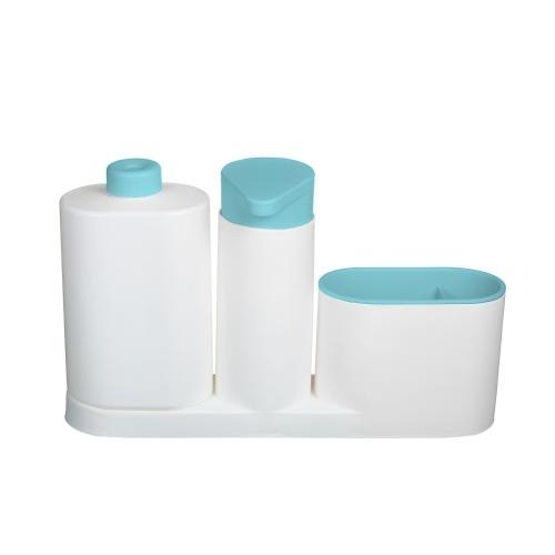 現代のプラスチック製のキッチンシンクカウンター液体食器用石鹸ディスペンサー