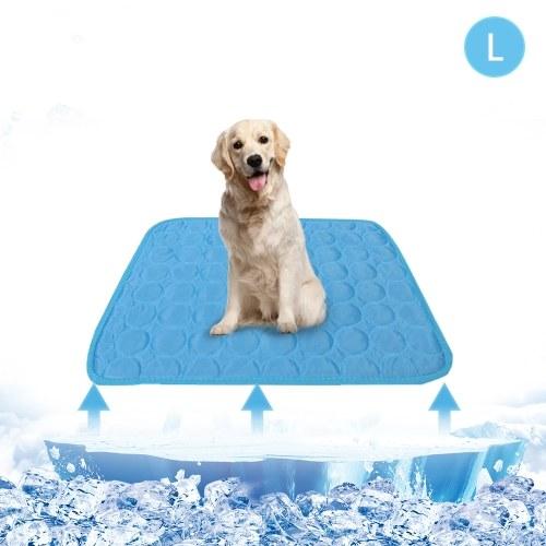Estera de enfriamiento de verano para mascotas Almohadilla para mascotas transpirable Manta de enfriamiento portátil para mascotas lavable para mascotas pequeñas, medianas y grandes