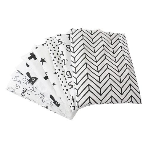 8PCS Cotton Fabric Different Pattern Patchwork Fabric