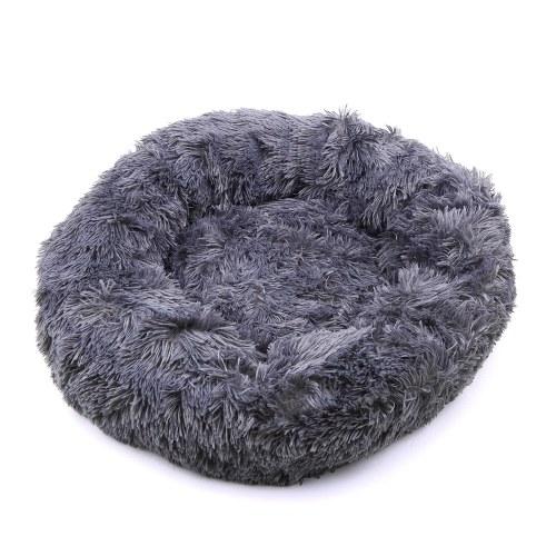 Cómoda cama redonda de felpa para mascotas para perros, gatos