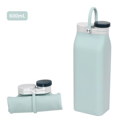 Botella de agua plegable de 600 ml