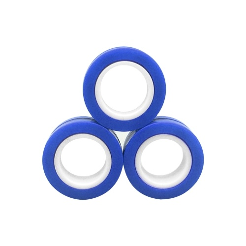 Magnetisches Spielzeug Magnetisches Ringspielzeug Kinder Fingerspitzenspielzeug Magische Ringe Magnetische Armbänder Requisiten Dekompressionsspielzeug Angst Erwachsene rotierendes Spielzeug