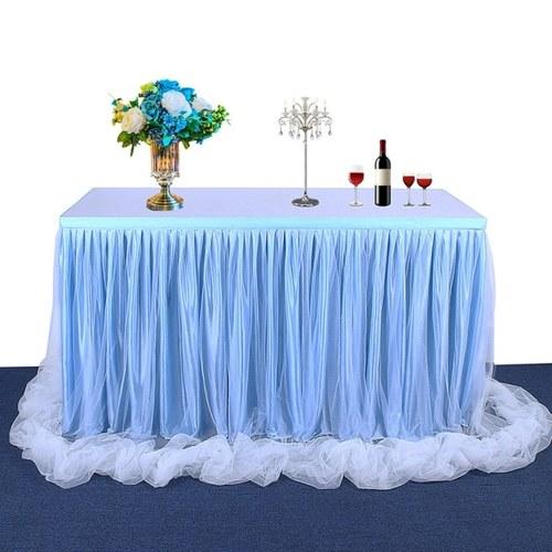 手作りチュールテーブルスカートテーブルクロス装飾食器布