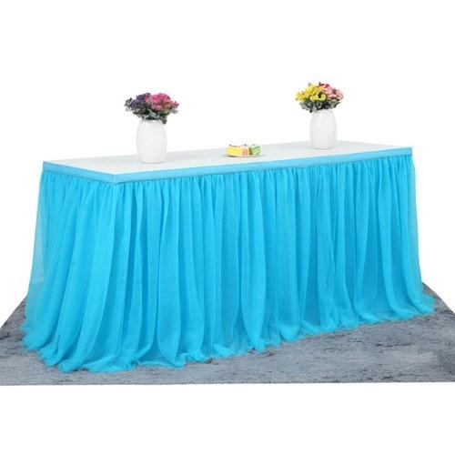 Handmade Tulle Table Skirt Tablecloth Decorative Tableware Cloth