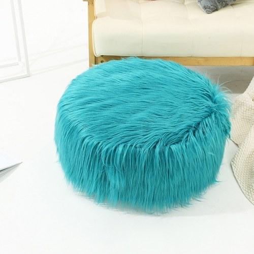 Taburete inflable del sofá de la silla de la piel sintética Reposapiés del reposapiés de Pluffy
