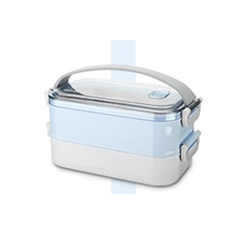 Boîte à lunch Boîte à bento multi-couches délimitée Boîte à lunch portable en acier inoxydable anti-brûlure