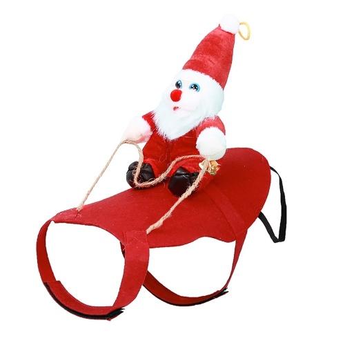 Disfraz de Papá Noel montado en perro Navidad Mascotas Ropa