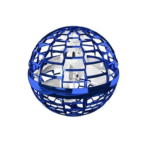 Giocattolo volante di induzione Veicolo volante: rotazione di 360 gradi e luci RGB, un regalo per bambini adulti (blu)