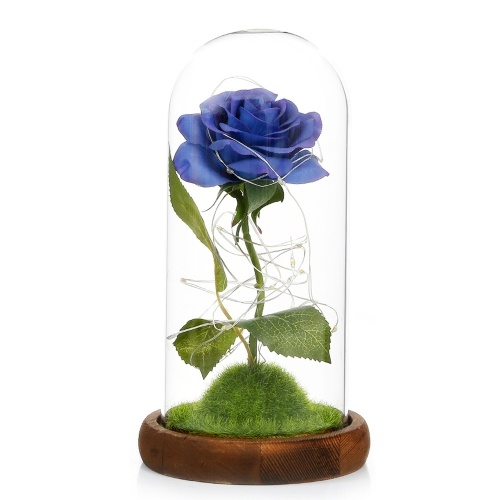 Flor de rosa artificial con luces LED
