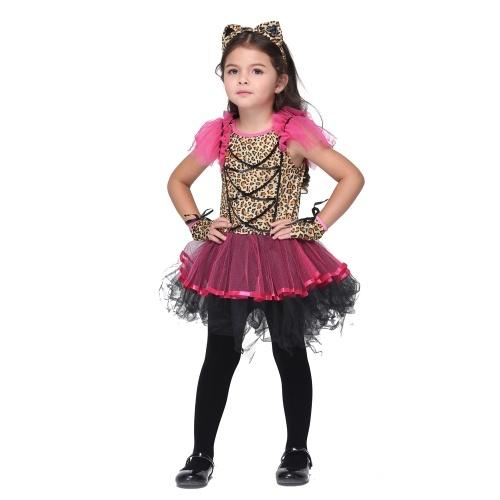 Festnight Let's Pretend Pretty balet Princess Balet Taniec kostiumowy Cute Fairytale Halloween Dziecięce stroje Dziecięce kostiumy Leopard Print