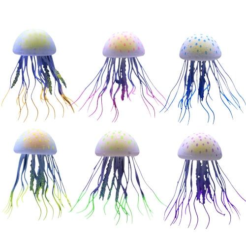 6szt Sztuczne świecące Jellyfish Fish Tank Aquarium ozdoby ozdoby